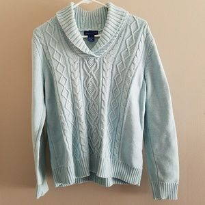 Thick Light Blue Sweater